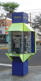 Madrid telephone booth