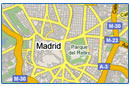 All our hotels in a map of Madrid